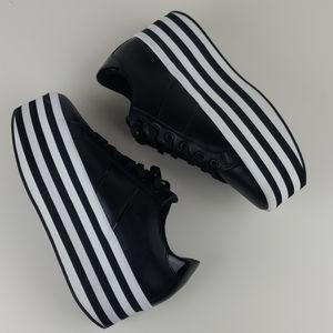 Aldo Nydoilia black white platform sneakers shoes